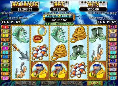 Mega 7's featuring the Video Slots Sea Captain with a maximum payout of $250,000
