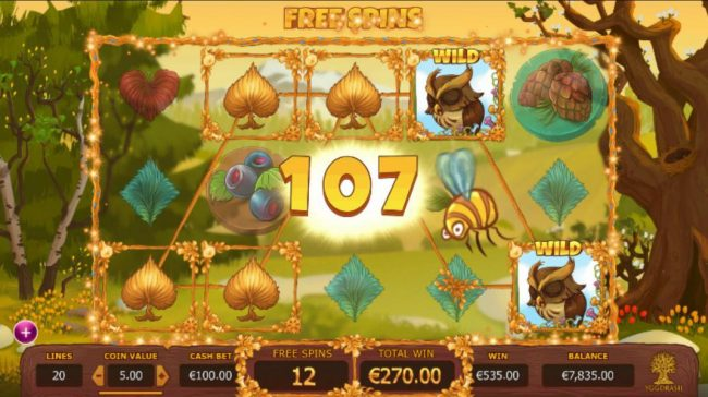 Seasons :: Multiple winning paylines triggers a big win during the free spins feature!