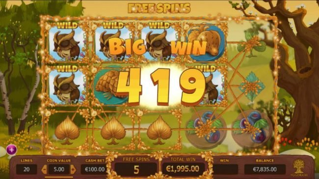 Seasons :: A 419 coin big win triggered during the Free Spins mode.