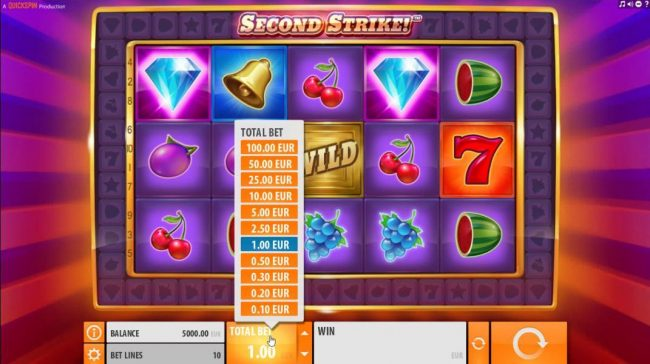 Royal House featuring the Video Slots Second Strike with a maximum payout of $10,000