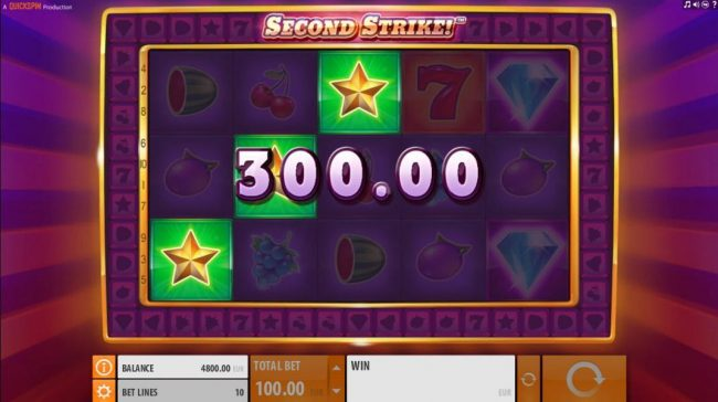 Vera&John featuring the Video Slots Second Strike with a maximum payout of $10,000