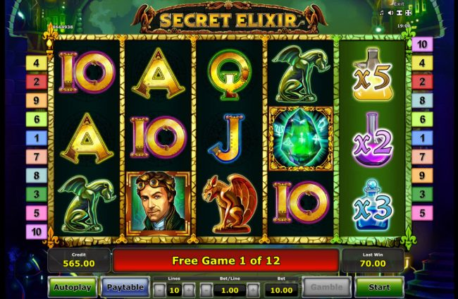 Secret Elixir :: Free Spins Game Board