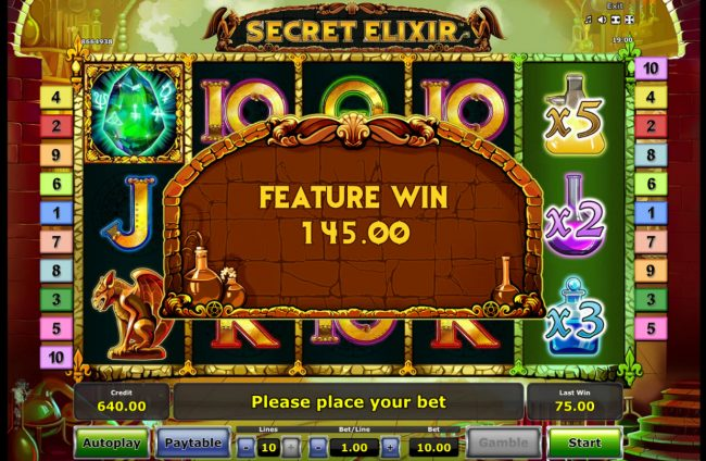 Secret Elixir :: Total Free Spins Payout