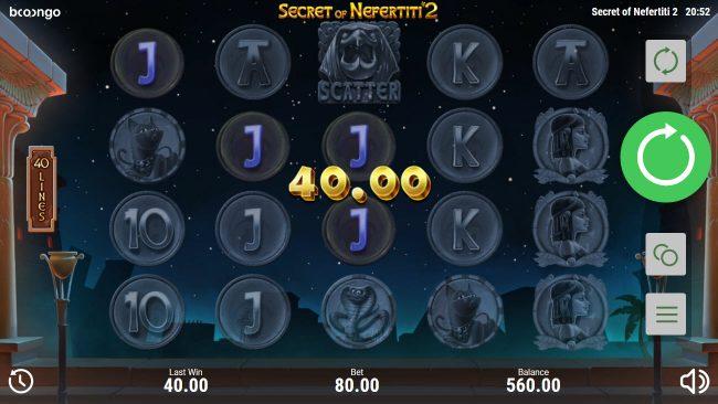 Secret of Nefertiti 2 :: Multiple winning paylines