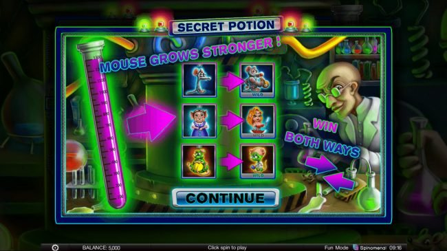 Play slots at This Is Vegas: This Is Vegas featuring the Video Slots Secret Potion with a maximum payout of $5,000