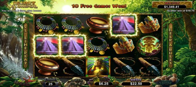 Wild Vegas featuring the Video Slots Secret Symbol with a maximum payout of $12,500
