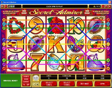 Phoenician featuring the Video Slots Secret Admirer with a maximum payout of $50,000