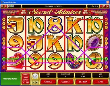 7 Gods Casino featuring the Video Slots Secret Admirer with a maximum payout of $50,000