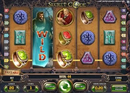 Karamba featuring the Video Slots Secret Code with a maximum payout of $10,000