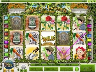 Play slots at Bella Vegas: Bella Vegas featuring the Video Slots Secret Garden with a maximum payout of $12,500