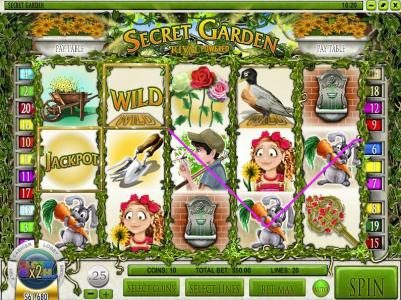 Play slots at This Is Vegas: This Is Vegas featuring the Video Slots Secret Garden with a maximum payout of $12,500