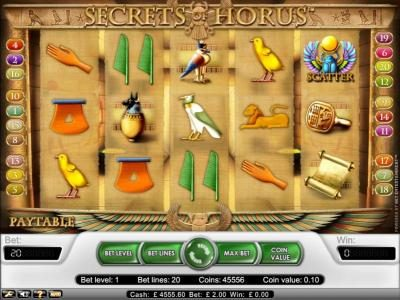 Play slots at YouWin: YouWin featuring the Video Slots Secret Of Horus with a maximum payout of $20,000