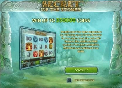Play slots at Vegas Spins: Vegas Spins featuring the Video Slots Secret of the Stones with a maximum payout of $175,000