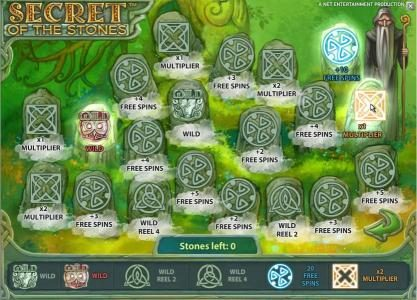 All British featuring the Video Slots Secret of the Stones with a maximum payout of $175,000