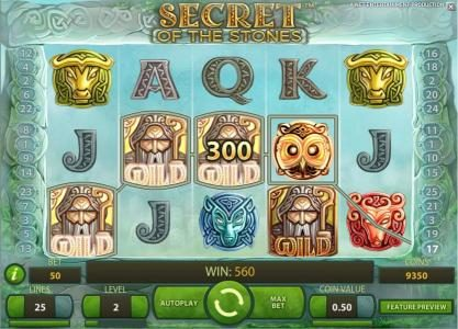 888 Casino featuring the Video Slots Secret of the Stones with a maximum payout of $175,000