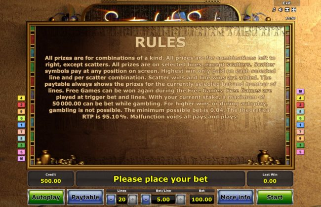 Secrets of the Sand :: General Game Rules