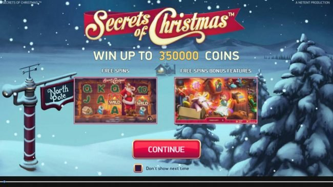 Vegas Winner featuring the Video Slots Secrets of Christmas with a maximum payout of $1,750,000