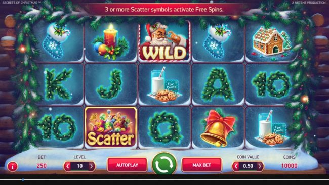 EypoBet featuring the Video Slots Secrets of Christmas with a maximum payout of $1,750,000
