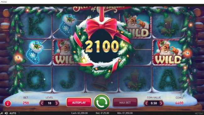 Shadowbet featuring the Video Slots Secrets of Christmas with a maximum payout of $1,750,000
