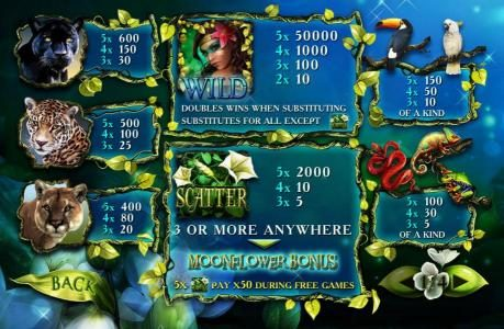 Vernons featuring the Video Slots Secrets of the Amazon with a maximum payout of $5,000,000