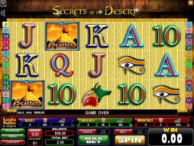 Play slots at Casinoval: Casinoval featuring the Video Slots Secrets of the Desert with a maximum payout of $625
