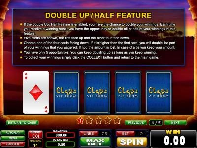 Casinoval featuring the Video Slots Secrets of the Desert with a maximum payout of $625
