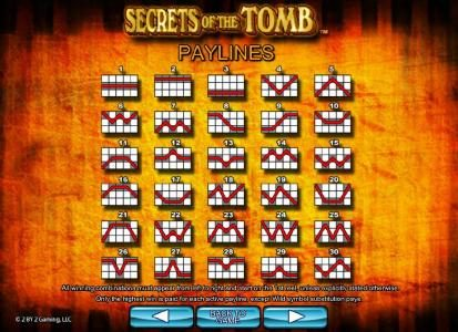 Slotty Vegas featuring the Video Slots Secrets of the Tomb with a maximum payout of $10,000