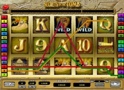 HippoZino featuring the Video Slots Secrets of the Tomb with a maximum payout of $10,000