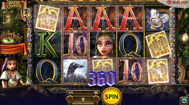 Big Spin featuring the Video Slots Seer's Crystal with a maximum payout of $336,000