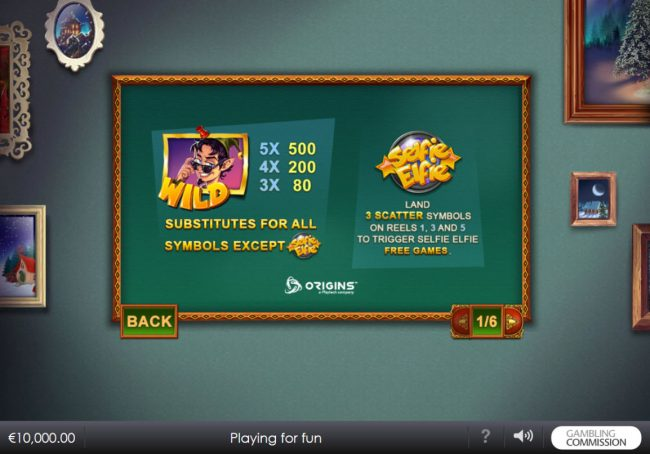 21 Nova featuring the Video Slots Selfie Elfie with a maximum payout of $200,000