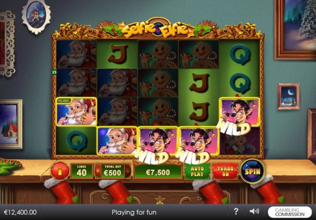 Casino Lucky Win featuring the Video Slots Selfie Elfie with a maximum payout of $200,000