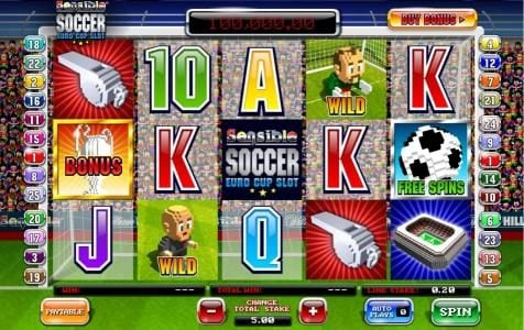 Play slots at Slots Angel: Slots Angel featuring the Video Slots Sensible Soccer Euro Cup Slot with a maximum payout of $100,000