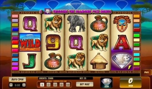 Play slots at My Bet: My Bet featuring the Video Slots Serengeti Diamonds with a maximum payout of $50,000