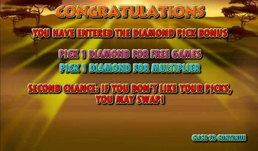 Sun Play featuring the Video Slots Serengeti Diamonds with a maximum payout of $50,000