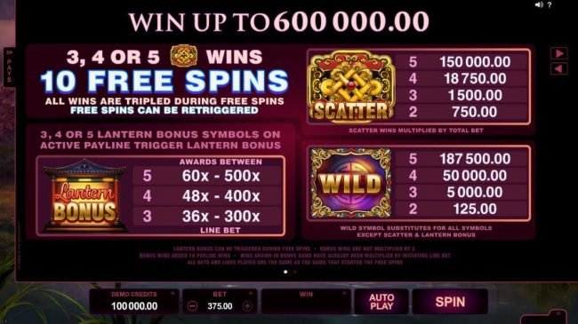 Nostalgia Casino featuring the Video Slots Serenity with a maximum payout of $600,000
