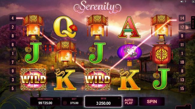 Casino France Net featuring the Video Slots Serenity with a maximum payout of $600,000
