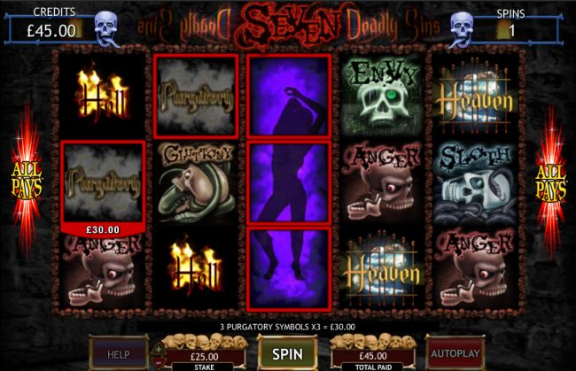 Play slots at Captain Cooks: Captain Cooks featuring the Video Slots Seven Deadly Sins with a maximum payout of $50,000