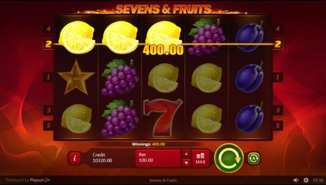 Sevens & Fruits :: A winning three of a kind