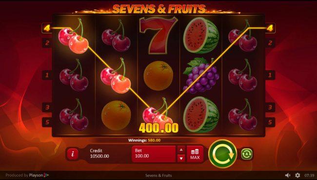 Sevens & Fruits :: Multiple winning paylines