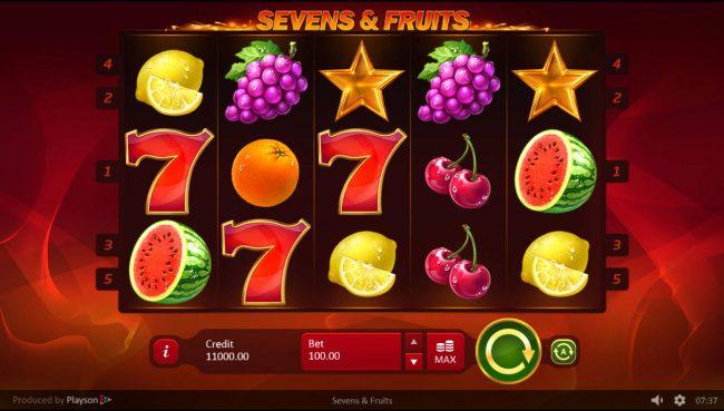 Sevens & Fruits :: Main Game Board