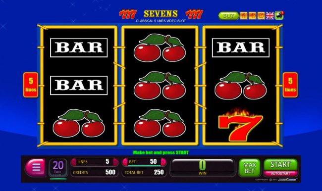 Sevens :: Main Game Board