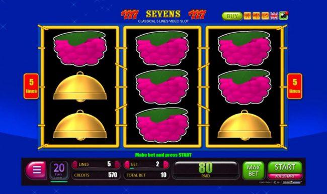 Sevens :: Winning payline