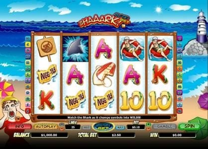 Play slots at Aztec Ritces: Aztec Ritces featuring the Video Slots Shaaark! with a maximum payout of $10,000