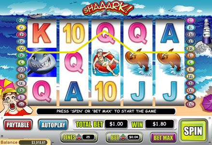 Play slots at Intertops Classic: Intertops Classic featuring the Video Slots Shaaark! with a maximum payout of $40,000