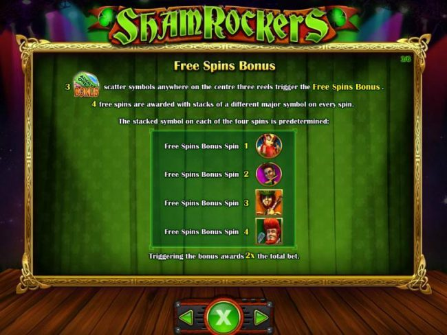Betfred featuring the Video Slots Shamrockers Eire To Rock with a maximum payout of $250,000
