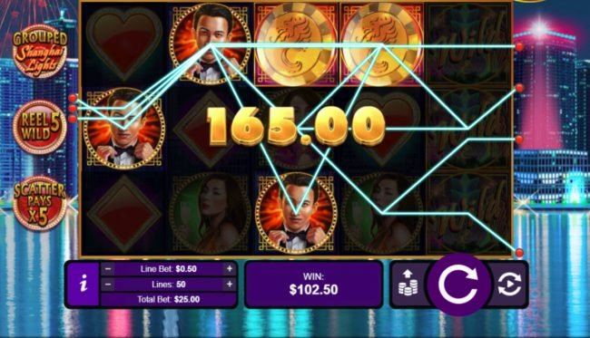 iNET Bet featuring the Video Slots Shanghai Lights with a maximum payout of $250,000