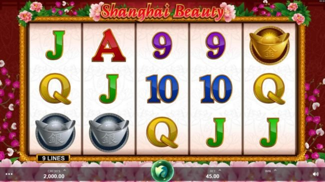 Fika Casino featuring the Video Slots Shanghai Beauty with a maximum payout of $50,000