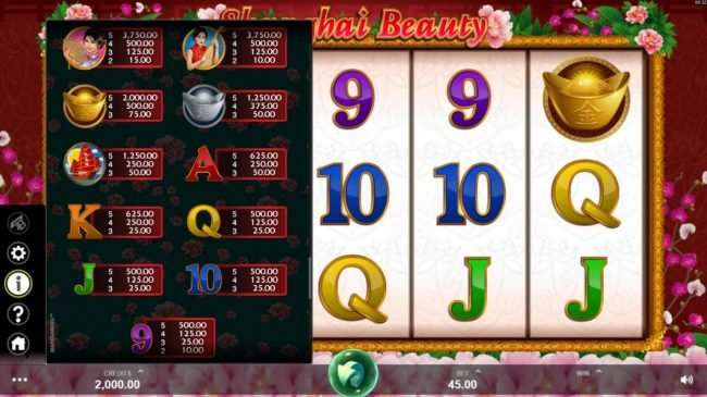 Blackjack Ballroom featuring the Video Slots Shanghai Beauty with a maximum payout of $50,000