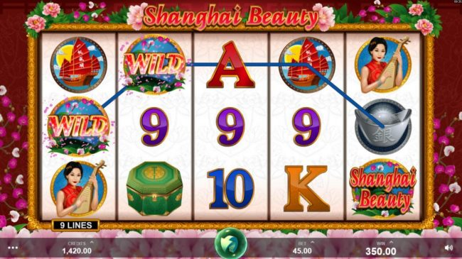 Intercasino featuring the Video Slots Shanghai Beauty with a maximum payout of $50,000