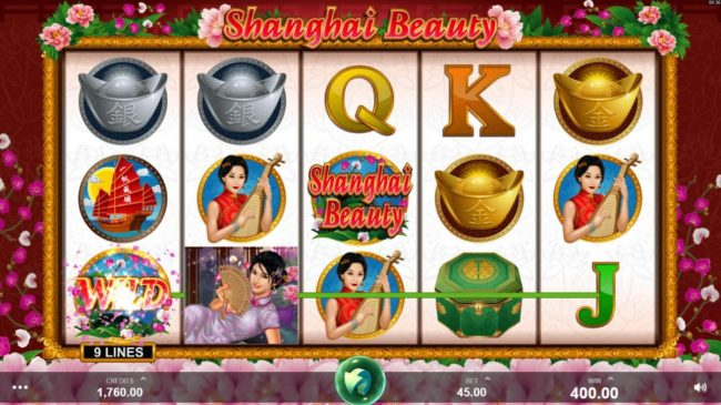 Casdep featuring the Video Slots Shanghai Beauty with a maximum payout of $50,000